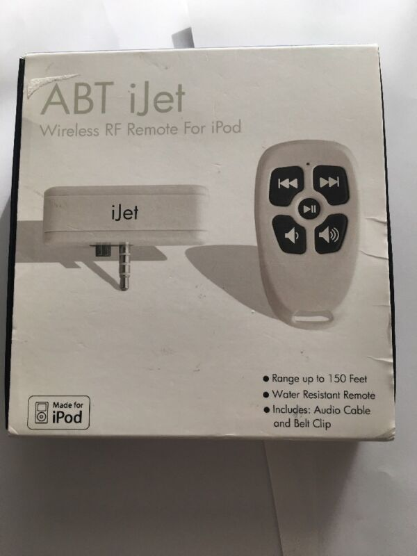ABT iJET WIRELESS RF REMOTE FOR IPOD 150