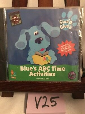 Blues Abc Time Activities  Pc  1999  Blues Clues Cd Rom Computer Game Nick Jr
