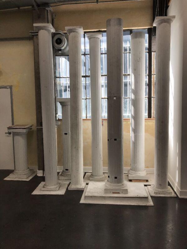 6xMetal columns design tradeshow event backyard office in/outside Doorway secret