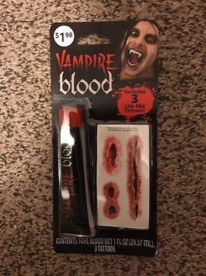 Halloween Vampire Blood Tattoos Makeup Kit Costume Theater Face Paint - Halloween Face Makeup Vampire