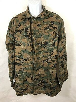 US Military Mens Marine Digital Camo Combat Field Jacket Size M Medium Regular