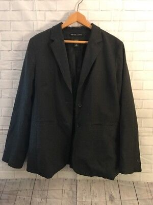 Womens Sz 12 NEW YORK COMPANY City Stretch Charcoal Gray Suit Jacket Blazer EUC - Party City Party Suit