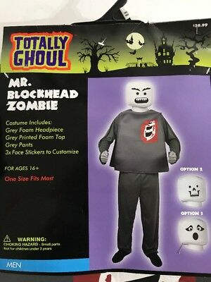 Mens Mr Blockhead Zombie Lego Costume