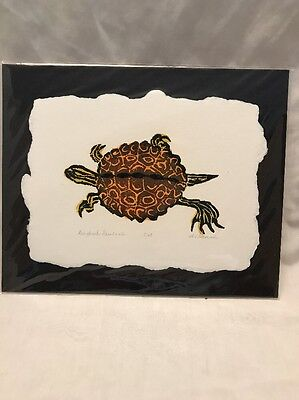 Al Stennis Signed Turtle Print Art Ringback Sawback Numbered 8/50 Rare