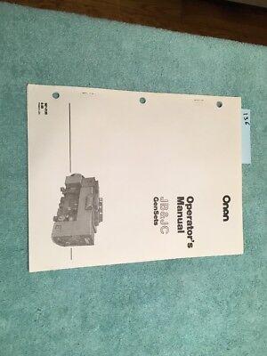 New Onan Generator Genset Jb And Jc Series Operators Manual Catalog Lot 136
