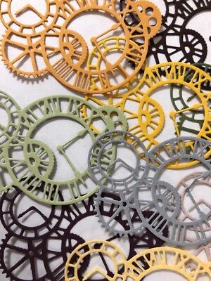 CLOCK GEARS Die-Cuts(6pc)Steampunk •Cogs•Sprocket•Earthtone•Machine •Antique