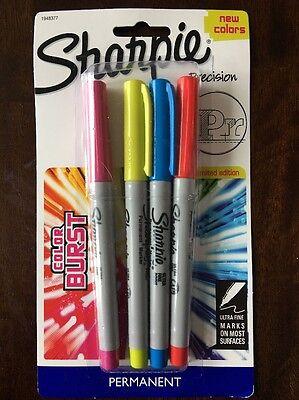 Sharpie Markers Limited Edition Color Burst Ultra Fine Point 1 Pkg Set Of 4