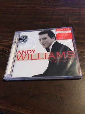 Andy Williams Very Best Of Love 2 CD Set Moon River Greatest Hits Happy