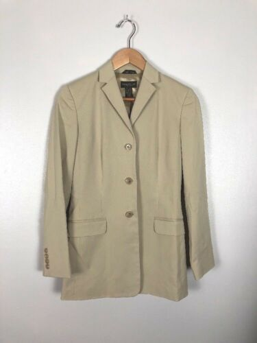 Vintage Banana Republic Long Brown Safari Jacket, Size 0