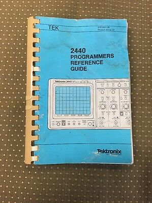 Tektronix 2440 Programmers Reference Guide Manual