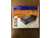 Verbatim 3TB Store 'n' Save Desktop Hard Drive, USB 3.0 - Black, Brand New Unopened in a box