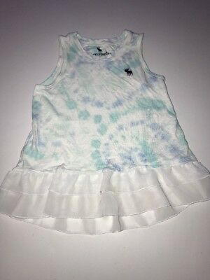 Girls Abercrombie Kids Size 9/10 Tank Top Blue And White  (Blue Kids Tank Top)