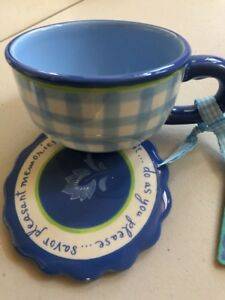 Kimberly Hodges Tea Cup With Lid - NWT
