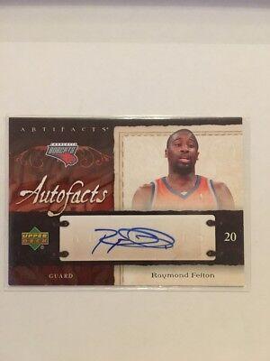 NBA Auto Card Raymond Felton Upperdeck 07-08