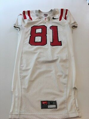 Game Worn Used Cornell Big Red Football Jersey Nike  81 Size Medium ef1332592
