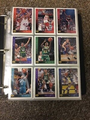 NBA Basketball Cards Upper Deck 1993-94 Nearly Complete Sets + Folder & Sleeves