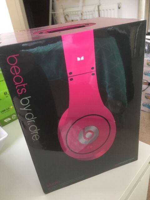 Beats by Dr. Dre Studio Monster Headband Headphones - Pink BRAND NEW SEALED