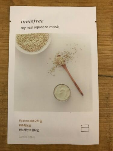 Innisfree My Real Squeeze Mask Oatmeal MOISTURIZER 20ml Samp