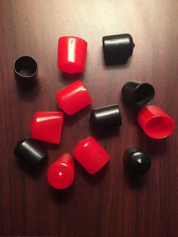 Vinyl (Plastic) Round End Caps. Multiple Sizes And Colors