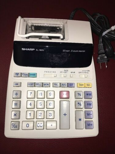 Sharp EL-1801V Scientific Calculator Made In China
