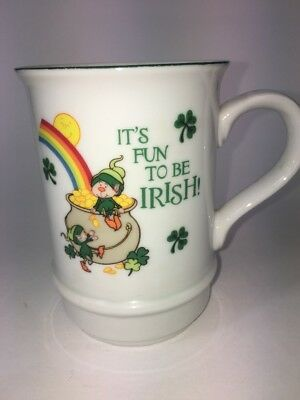 St Patricks Day Cups (Irish St Patricks Day Mug cup / Musical  Rainbow vintage)