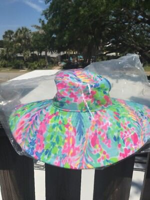 50f003672e7b8a Used, NWT Lilly Pulitzer Beach Hat Catch The Wave Free Shipping for sale  Radford
