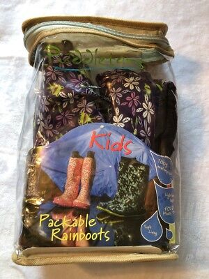 INCLUDES TOTE PUDDLETON/'S KIDS PACKABLE RAINBOOTS NEW BOOTS! KIDS SIZE 2
