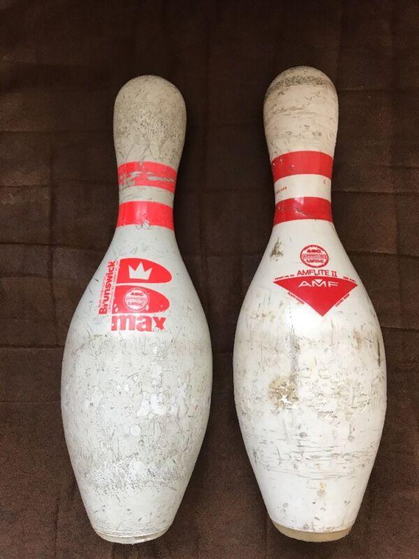 Vintage AMF Amflite II and Brunswick Max Bowling Pins