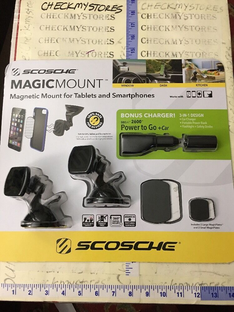 Scosche black magic mount magnetic universal phone TABLET mo