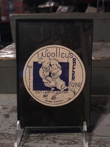 Vintage 1930-1950 Era Decal Woolley s Roller Rink Salt Lake City Utah Sheep - $15.99