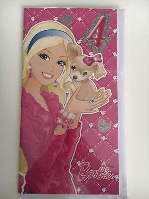 4 4th Birthday Card Barbie Theme - Barbie Birthday Theme