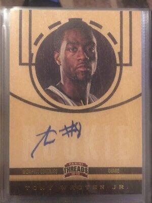 NBA Auto Card Panini Threads (rookie) 2012-13 Tony Wroten Jr