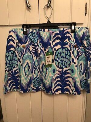 Lilly Pulitzer NWT Madison Skort Serene Blue Tropi Call Me XL Free Shipping