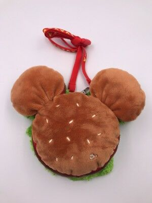 Tokyo Disneyland Resort Japan Hamburger Mickey Annual Passport Plush Pouch (DSJ)