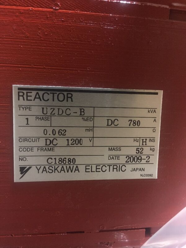 Yaskawa Uzdc-b Reactor 1ph 780a 1200v