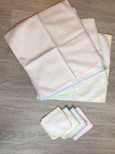 Micro Peeling Tuch Set 4 Stück 25x30 cm , 4 Stück 10x10 cm, weiß