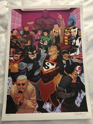 SDCC 2018 BERNARD Chang DC Comics Karaoke Art Print Exclusive