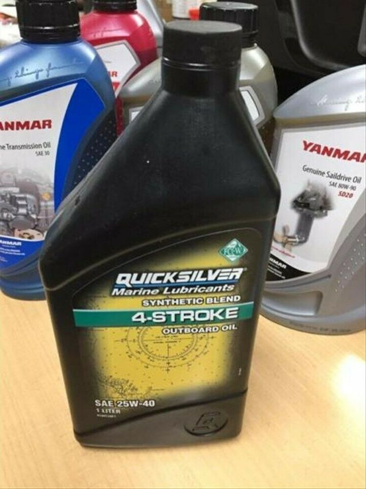 1 Liter Quicksilver 4 Stork Synthetic  Blend Outboard OIL in Berlin