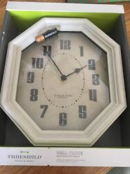 STERLING & NOBLE Wall Clock! NIB Glass Covered...and Wood Frame.