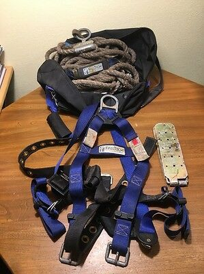 Falltech Construction Harness W Lanyard Mount Plate And Bag