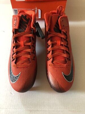 Nike Alpha Pro Football Cleats Orange Mens Size 11 With Box Retail Value   100 e8acc07b3