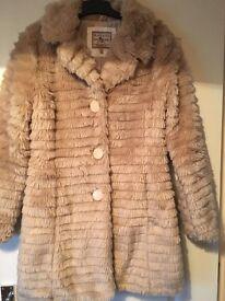 Ladies Brave Soul Faux Fur Coat