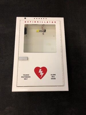 Potter Roemer Emergency Medical Defib Cabinet Steel Wall Mount White Type 1