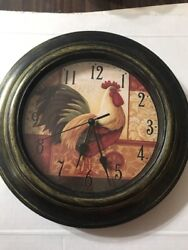 Rooster Wall Clock French Motif 11 Battery Operated