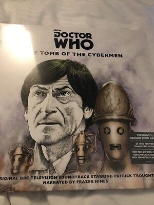 DOCTOR WHO TOMB OF THE CYBERMEN RSD 2018 RECORD STORE DAY 2 X SILVER LP