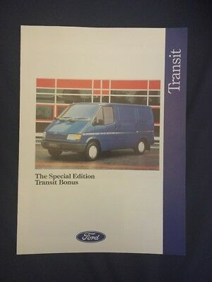 Ford Transit Bonus & Executive Brochures