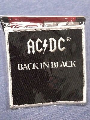 AC/DC Back in Black Patch Officially Licensed New In Package AC DC