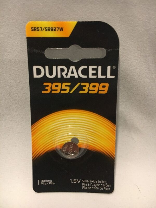 1 New Duracell 395/399 Sr927w Sr57 Ag7 Silver Oxide Watch Battery Free Shipping