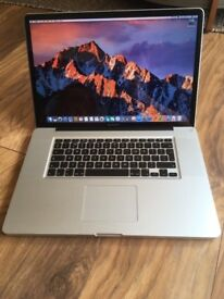 "Apple MacBook Pro 17"" 2.4ghz Quad Core i7 cpu, 8gb Ram, 128gb SSD, Radeon 6770 1gb"