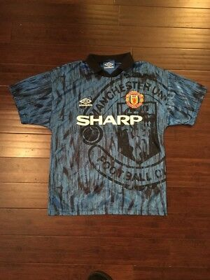 Vintage Umbro Manchester United Sharp Jersey Mens Sz S